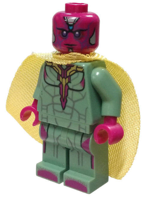 LEGO Marvel Super Heroes Avengers Age of Ultron Vision Minifigure [Azure Stone on Forehead Loose]