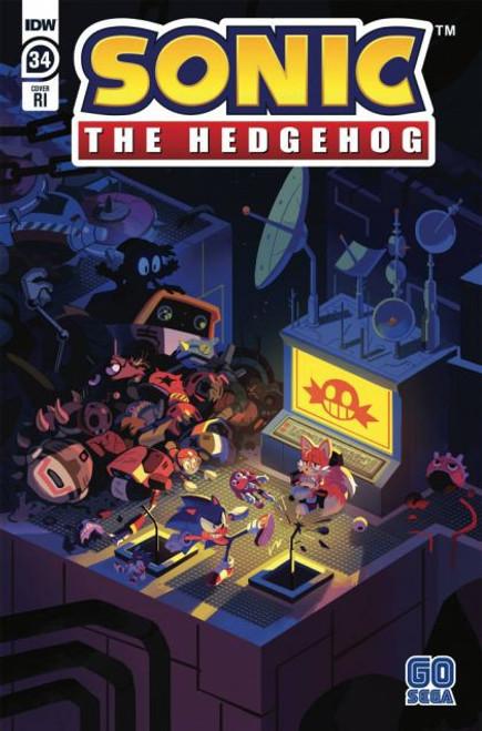 IDW Publishing Sonic the Hedgehog, Vol. 3 #34C Comic Book [1:10 Fourdraine Variant]