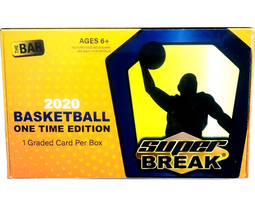 NBA Super Break 2020 ONE Time Edition Basketball Trading Card RETAIL Box [1 Graded Card Per Box!]