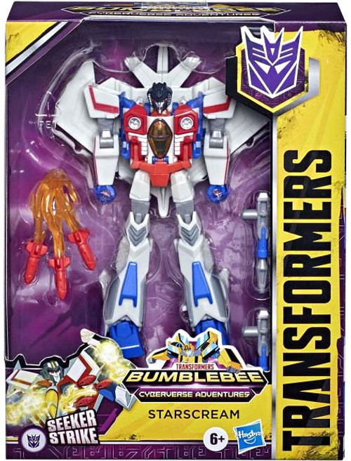 Transformers Cyberverse Adventures Starscream Deluxe Action Figure (Pre-Order ships January)
