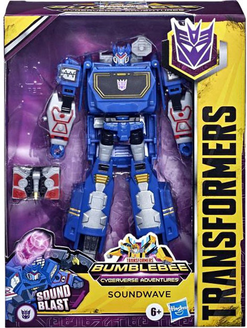 Transformers Bumblebee Cyberverse Adventures Soundwave Deluxe Action Figure (Pre-Order ships January)