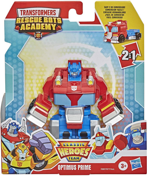 "Transformers Playskool Heroes Rescue Bots Academy All-Star Optimus 4.5"" Action Figure [Rescan] (Pre-Order ships January)"
