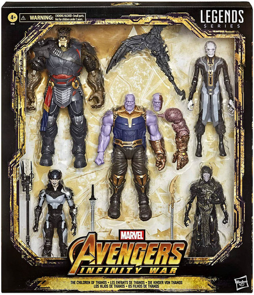 Avengers Infinity War Marvel Legends The Children of Thanos Exclusive Action Figure 5-Pack [Thanos, Proxima Midnight, Ebony Maw, Corvus Glaive & Cull Obsidian]