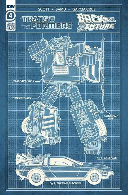 IDW Transformers Back to the Future #4 of 4 Comic Book [Cover B Phil Murphy]