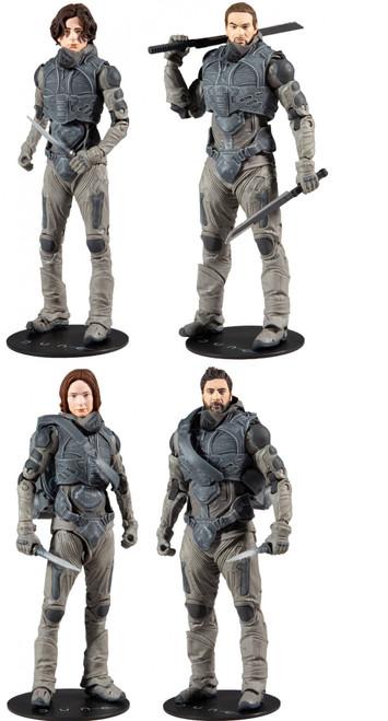 McFarlane Toys Dune Build Glossu Beast Rabban Series Duncan, Lady Jessica, Paul & Stilgar Set of 4 Action Figures