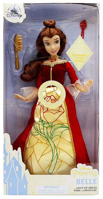 Disney Princess Beauty and the Beast Premium Belle Exclusive 11.5-Inch Doll [Light-Up Dress]