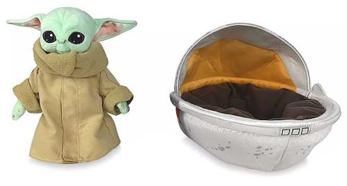 Disney Star Wars The Mandalorian The Child in Hover Pram Exclusive 7.5-Inch Plush [Baby Yoda / Grogu]