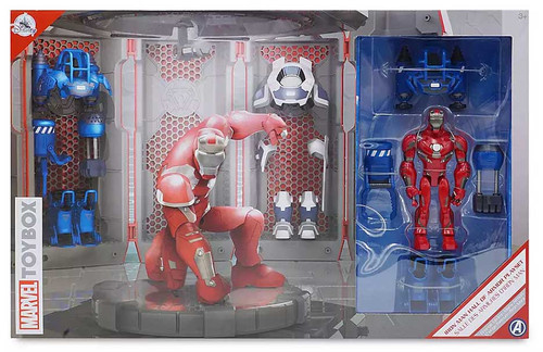 Disney Marvel Toybox Iron Man Hall of Armor 4.75-Inch Playset