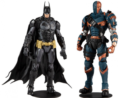 McFarlane Toys DC Arkham Knight & Origins Batman & Deathstroke Set of 2 Action Figures