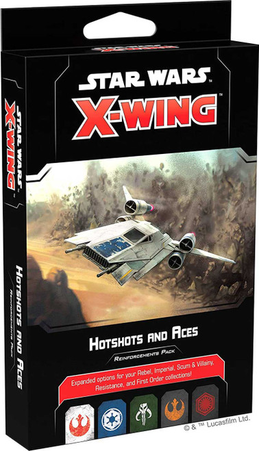 Star Wars X-Wing Miniatures Game Hotshots and Aces Reinforcements Pack [2nd Edition]