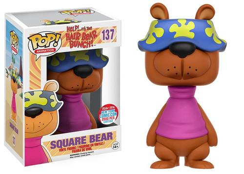 Funko Hair Bear Bunch POP! Animation Square Bear Exclusive Vinyl Figures #137