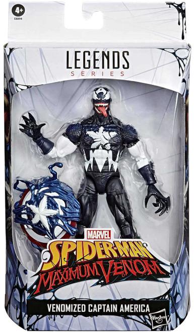 Spider-Man Maximum Venom Marvel Legends Venomized Captain America Exclusive Action Figure