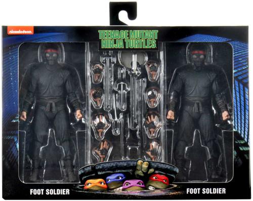 NECA Teenage Mutant Ninja Turtles Foot Soldier Exclusive Action Figure 2-Pack