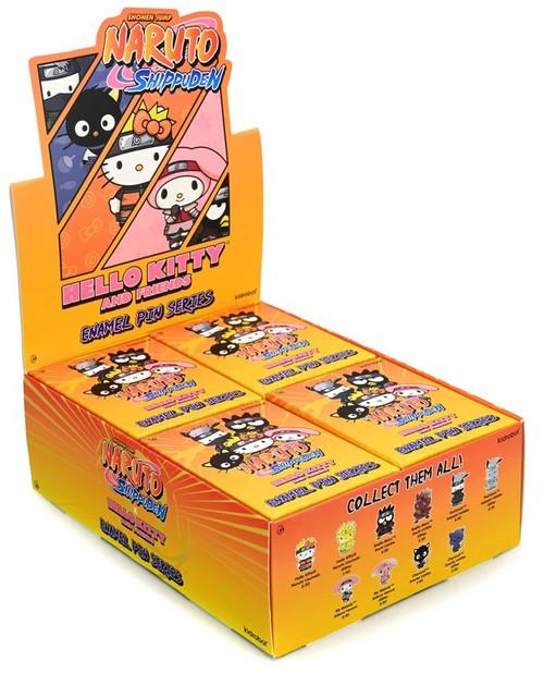 Sanrio Naruto x Hello Kitty Enamel Pin Series Series 1 1.5-Inch Mystery Box [20 Packs] (Pre-Order ships April)