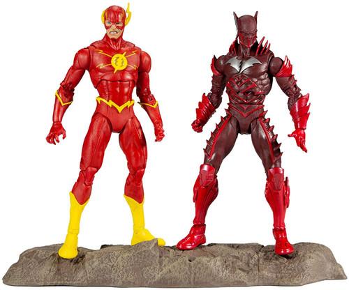 McFarlane Toys DC Multiverse Earth-52 Batman (Red Death) & Flash Action Figure 2-Pack
