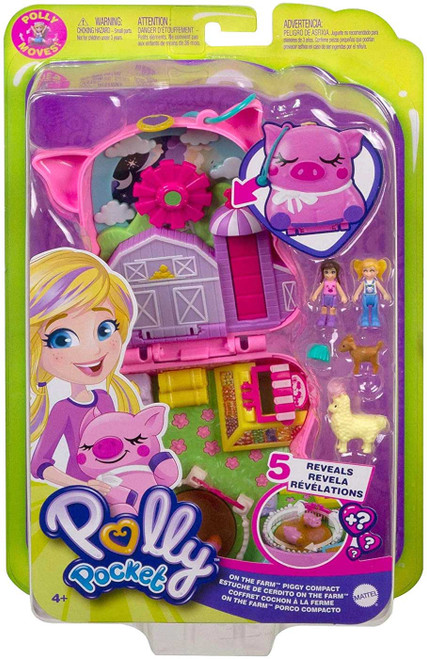 Polly Pocket Micro On the Farm Piggy Compact Playset