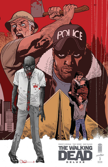 Image Comics The Walking Dead Deluxe #3 Comic Book [Cover C Adlard & McCaig]