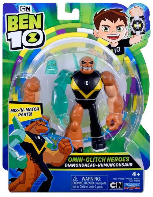 Ben 10 Omni-Glitch Heroes Diamondhead - Humungousaur Action Figure