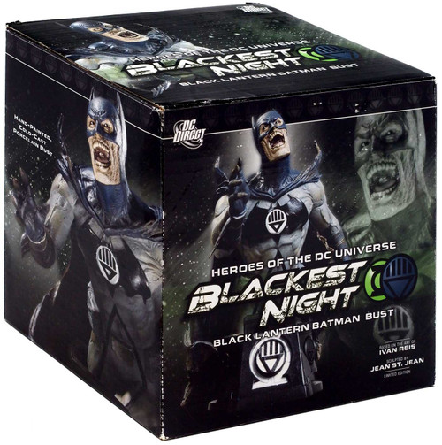 DC Green Lantern Blackest Night Black Lantern Batman 6-Inch Bust