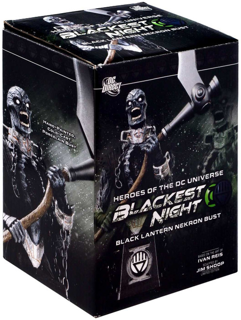 DC Green Lantern Blackest Night Black Lantern Nekron 6-Inch Bust