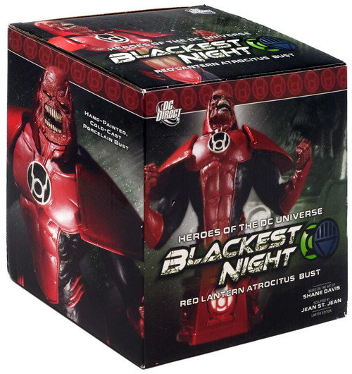 DC Green Lantern Blackest Night Red Lantern Atrocitus 6-Inch Bust