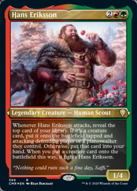 MtG Commander Legends Rare Hans Eriksson #599 [Etched Foil]