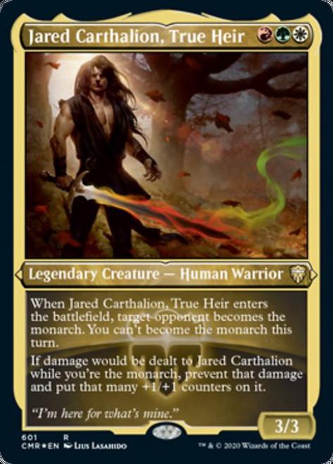 MtG Commander Legends Rare Jared Carthalion, True Heir #601 [Etched Foil]