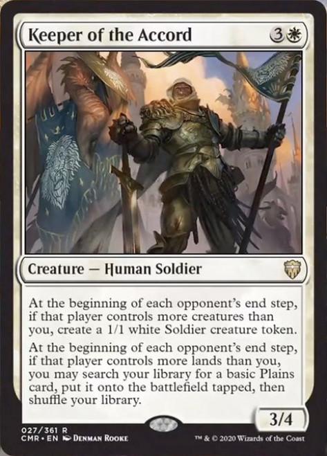 MtG Commander Legends Rare Foil Keeper of the Accord #27