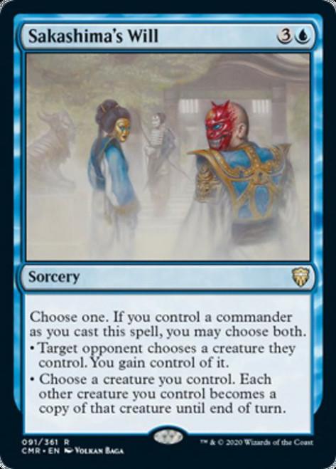 MtG Commander Legends Rare Foil Sakashima's Will #91