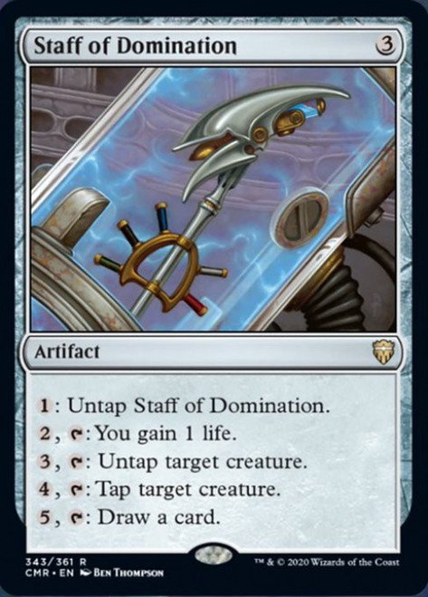 MtG Commander Legends Rare Foil Staff of Domination #343