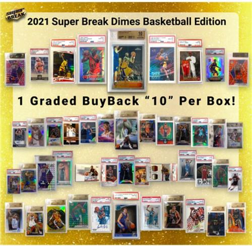 NBA 2020 DIMES Basketball Trading Card Box [1 GRADED BuyBack Card Per Box] (Pre-Order ships January)