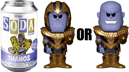 Funko Marvel Vinyl Soda Thanos Limited Edition of 20,000! Vinyl Figure [1 RANDOM Figure Look For The Rare Chase!]