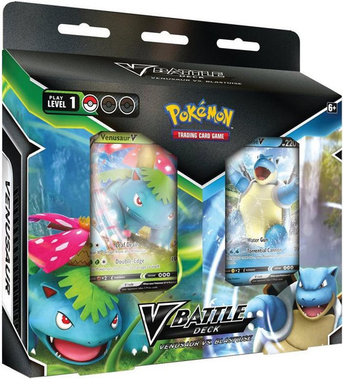 Pokemon Trading Card Game Venasaur V & Blastoise V Battle Deck Bundle (Pre-Order ships February)