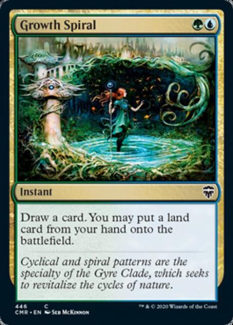 MtG Commander Legends Common Growth Spiral #446 [Commander Deck]