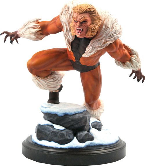 Logan Marvel Premier Collection Sabertooth 10-Inch Statue [Comic Version] (Pre-Order ships May)
