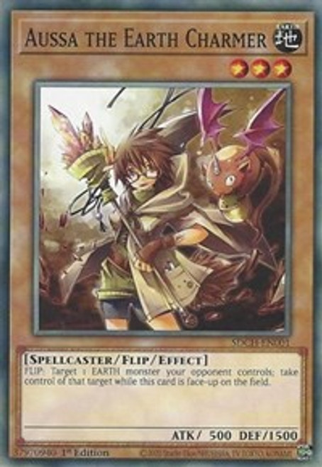 YuGiOh Structure Deck: Spirit Charmers Common Aussa the Earth Charmer SDCH-EN001