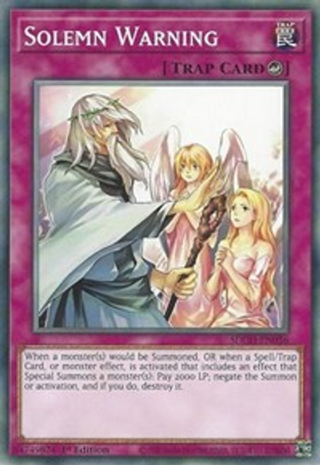 YuGiOh Structure Deck: Spirit Charmers Common Solemn Warning SDCH-EN036