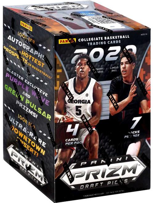 Collegiate Panini 2020-21 Prizm Draft Picks Basketball Trading Card BLASTER Box [7 Packs]