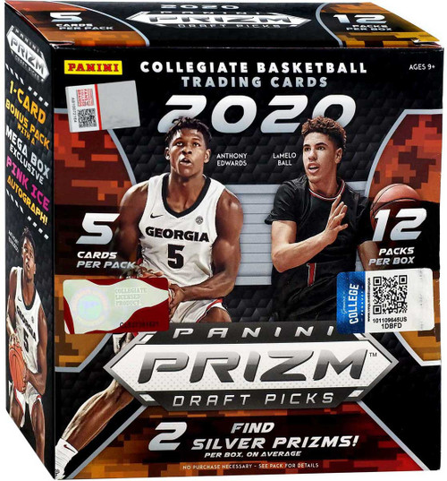 Collegiate Panini 2020-21 Prizm Draft Picks Basketball Trading Card MEGA Box [12 Packs, 1 Pink Ice Autograph!]