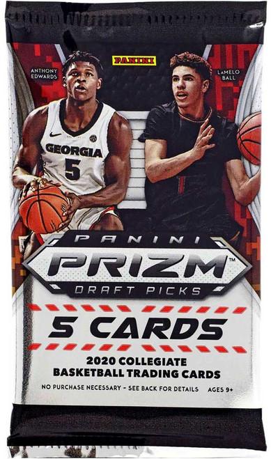 Collegiate Panini 2020-21 Prizm Draft Picks Basketball Trading Card MEGA BOX Pack [5 Cards]