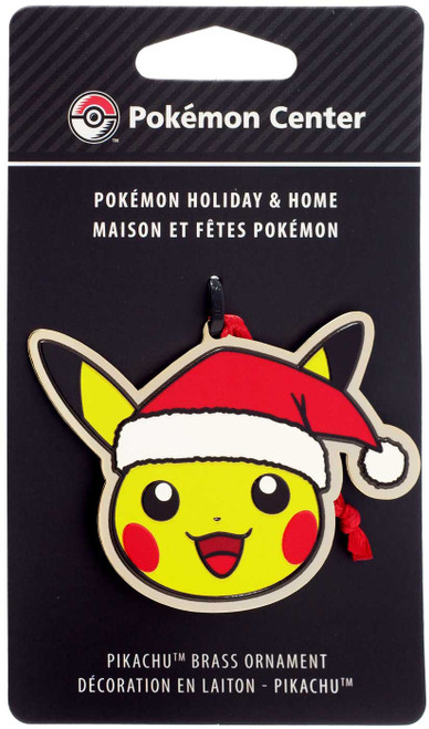 Pokemon Pikachu 3-Inch Brass Ornament [Santa Hat]