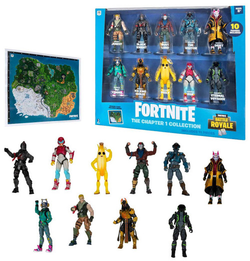 Fortnite Battle Royale The Chapter 1 Collection Action Figure 10-Pack