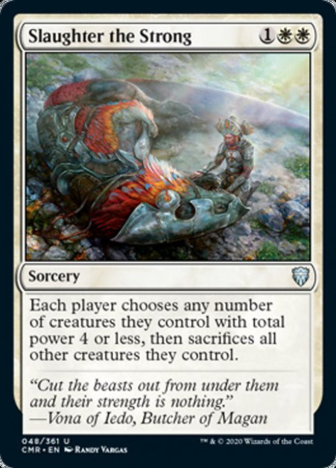 MtG Commander Legends Uncommon Slaughter the Strong #48