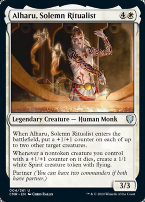 MtG Commander Legends Uncommon Alharu, Solemn Ritualist #4