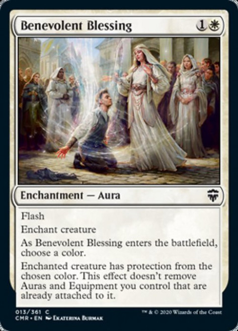 MtG Commander Legends Common Benevolent Blessing #13