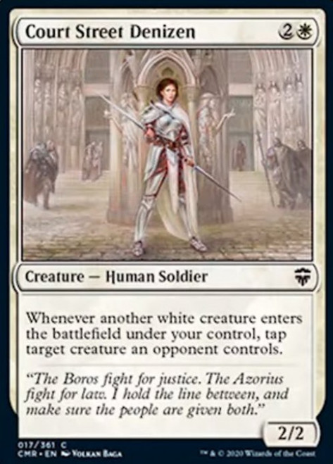 MtG Commander Legends Common Court Street Denizen #17