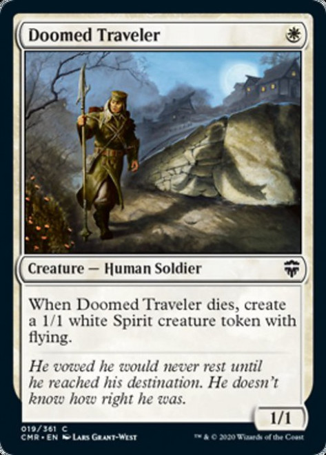 MtG Commander Legends Common Doomed Traveler #19