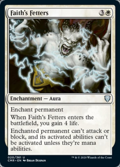 MtG Commander Legends Uncommon Faith's Fetters #20