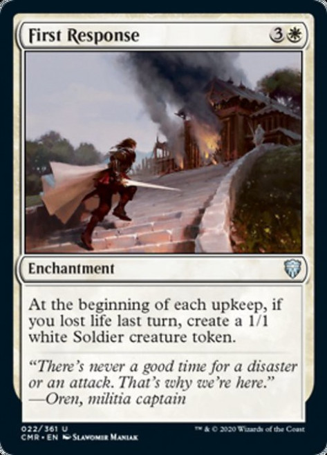 MtG Commander Legends Uncommon First Response #22