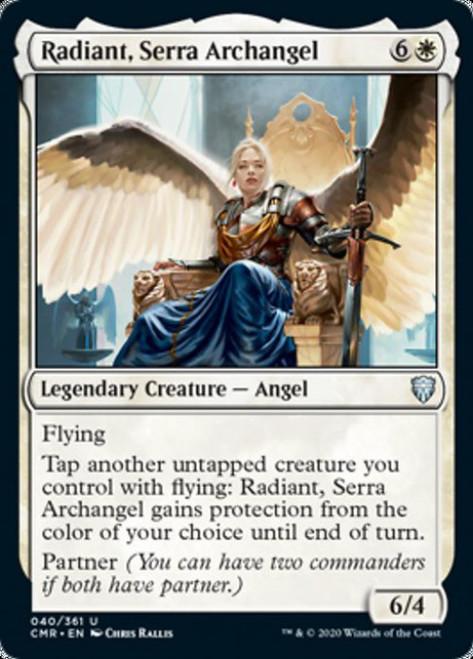 MtG Commander Legends Uncommon Radiant, Serra Archangel #40